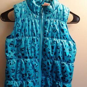 Girls blue vest